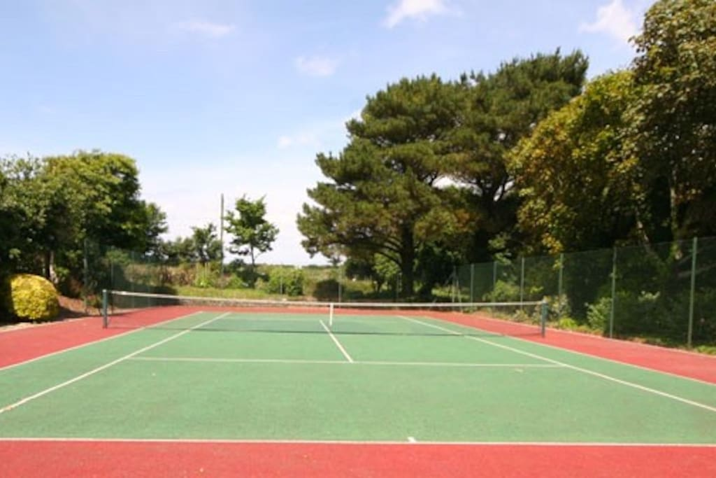 Private Tennis Court on site