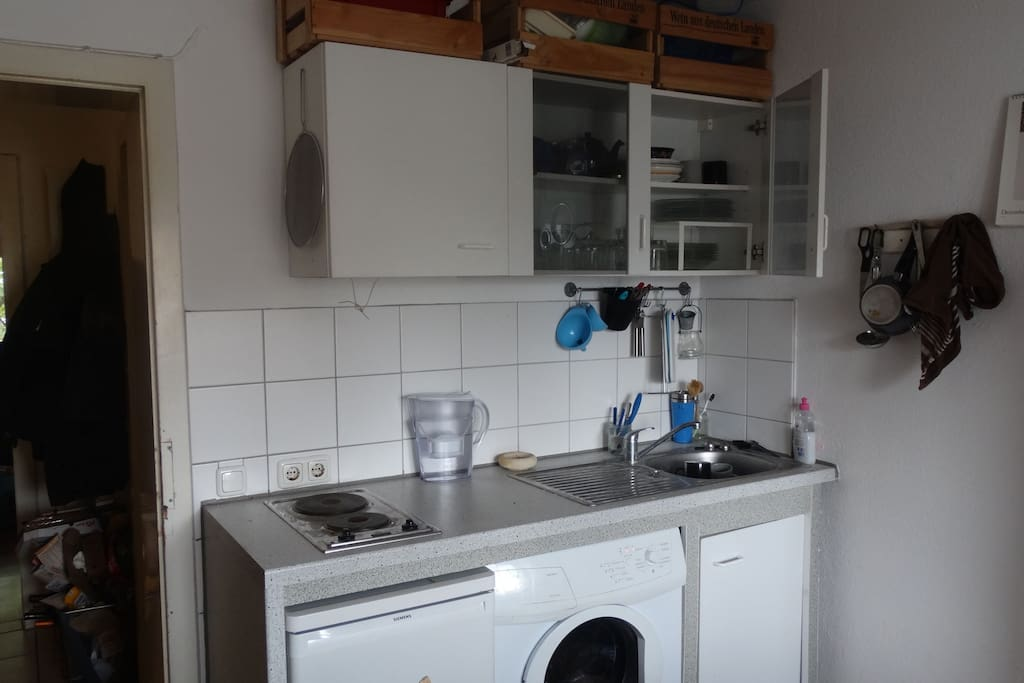 Kitchen with everything you need. And a washing machine ;)