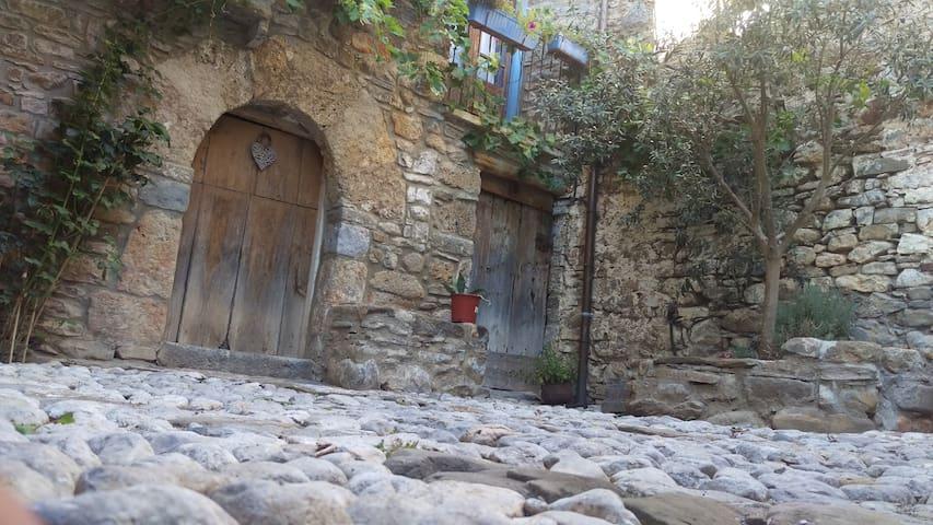 Chaleureuse maison typique village. - Laspuña - Huis