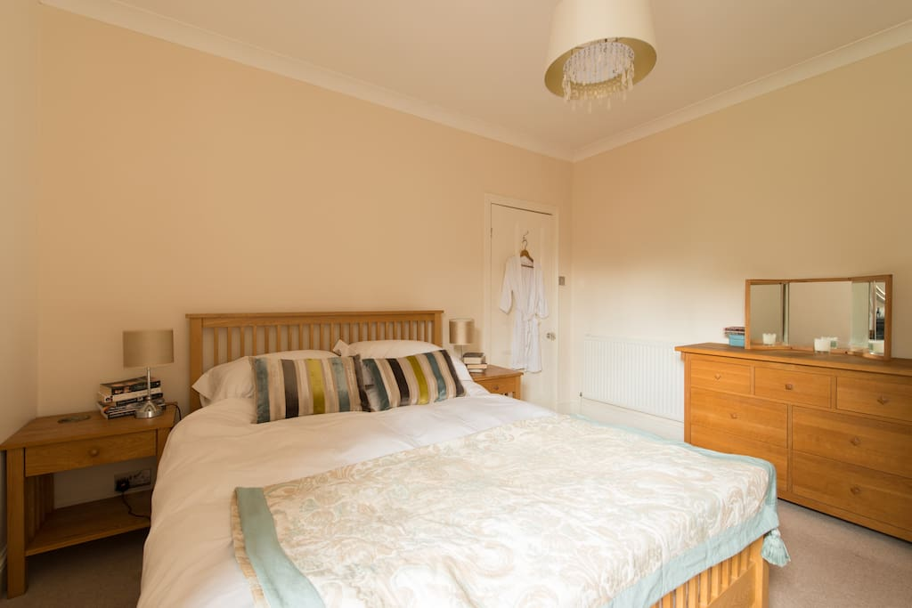 Comfortable king size bedroom.  Second bedroom available