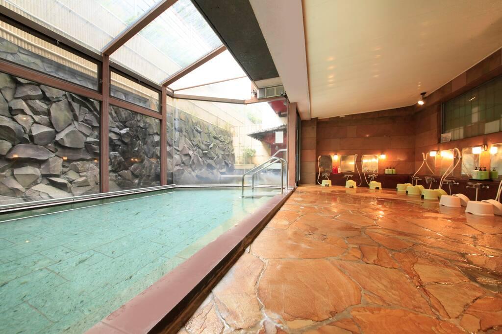 無料の温泉・洗い場