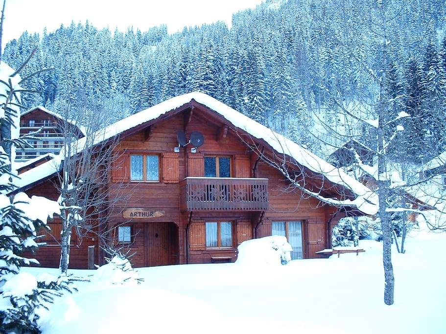 Chalet Arthur, beautiful in the snow