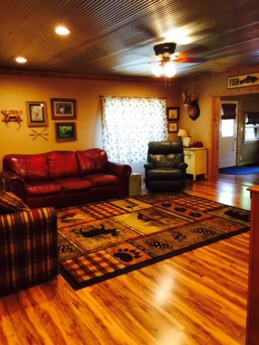 Living room with queen sleeper