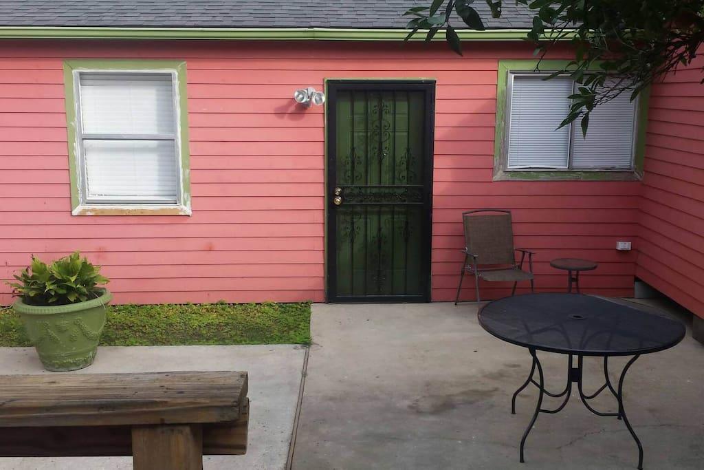 Yard and front yard entrance