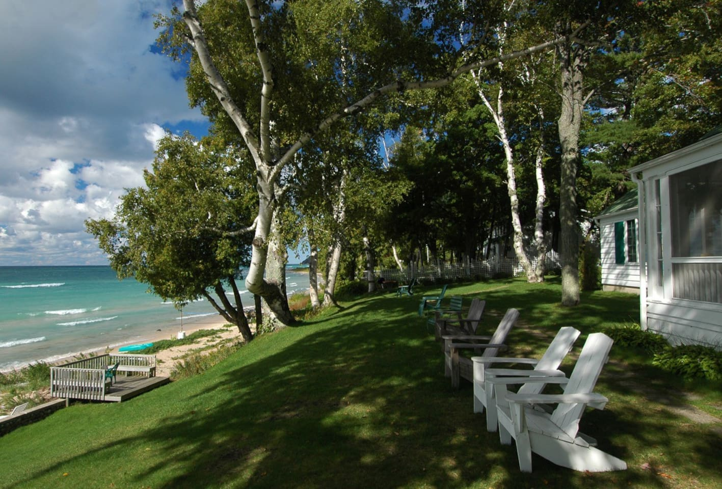 A sunny afternoon on Lake Michigan at The Jolli-Lodge