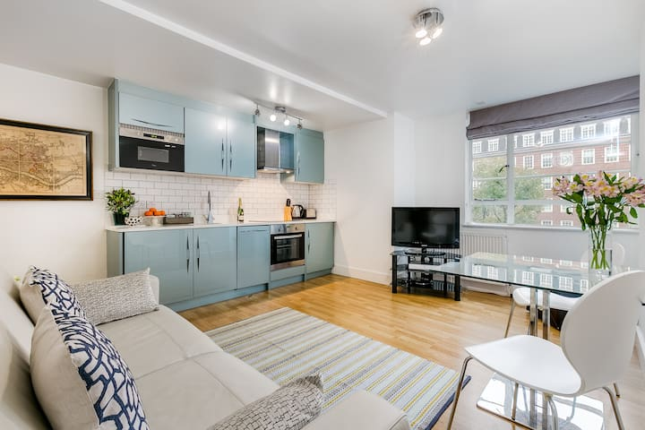 Stylish 1 bed Chelsea family flat 100mb wifi