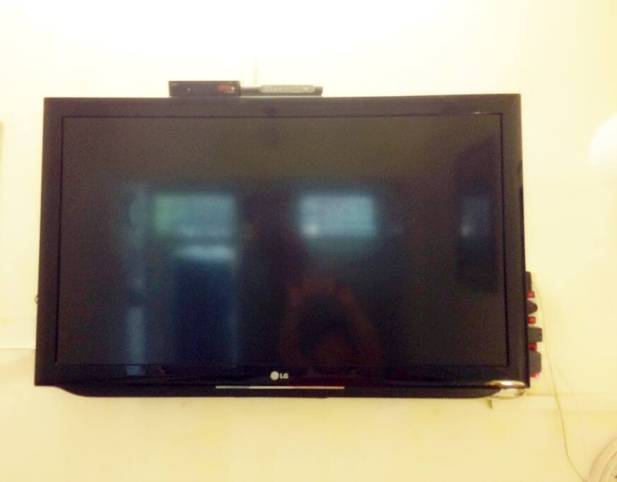 "42"" flat screen TV for unlimited entertainment"
