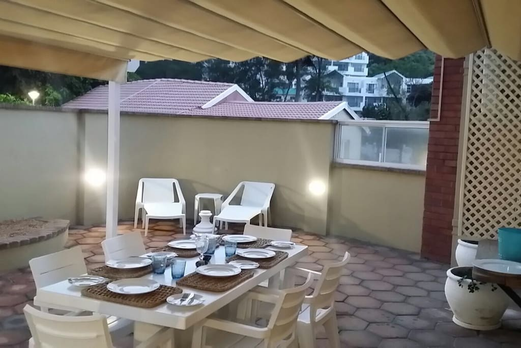 Adjustable Awning for those hot Durban Days.
