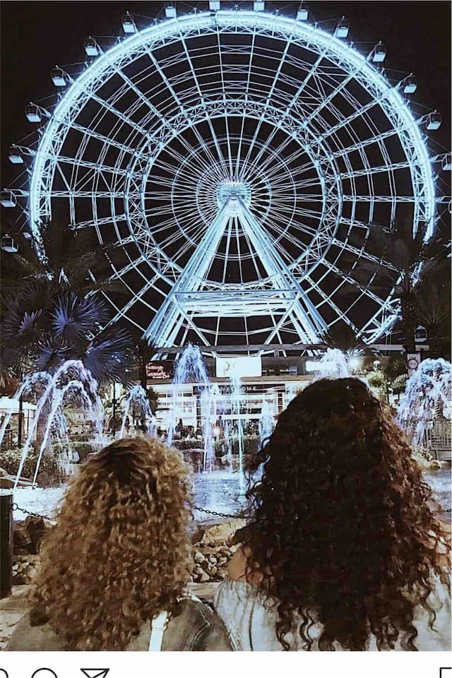 Views from the beautiful Orlando eye which is just 10 min away