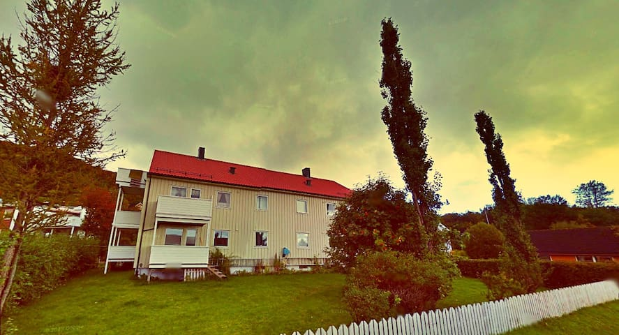 my house. this part of town is called Rønvika - a nice and quiet neighbourhood -  trails starts from here