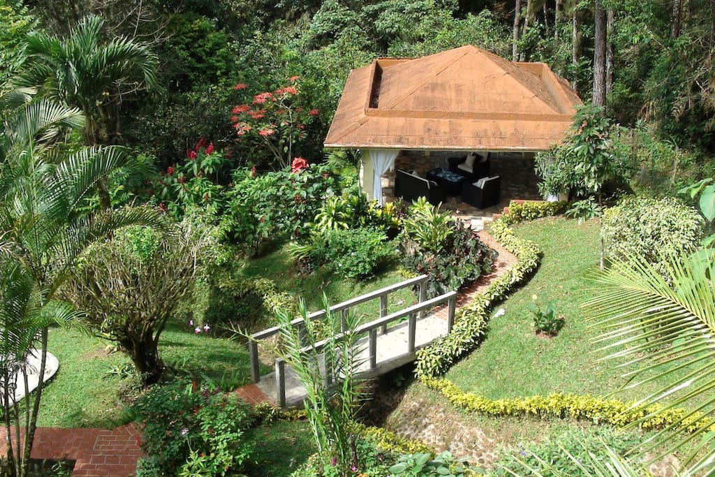 Bohio and gardens