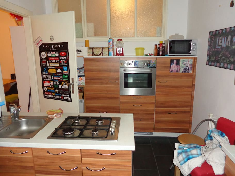 Our kitchen which you are more than welcome to use.