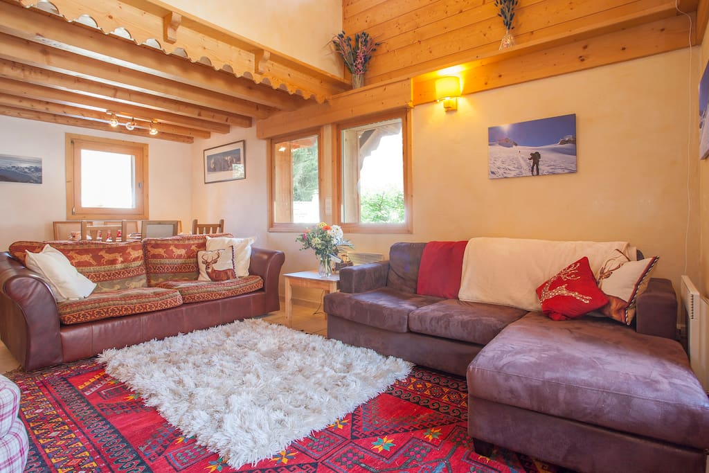 French Mountain Chalet, living area.