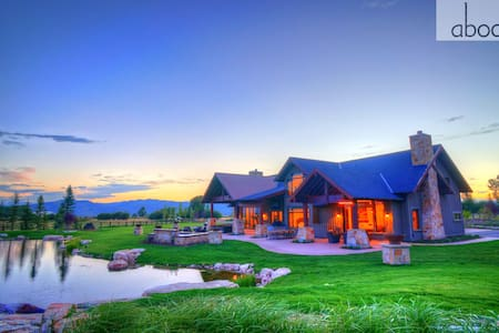 Luxury Estate Sleeps 22! Abode at Twilight Ranch - Kamas