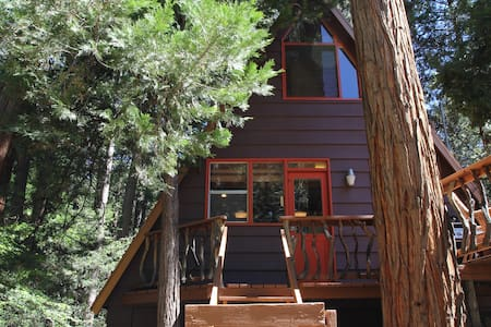 Idyllcreek A-Frame - Walk to Town - Dog Friendly - Cabaña