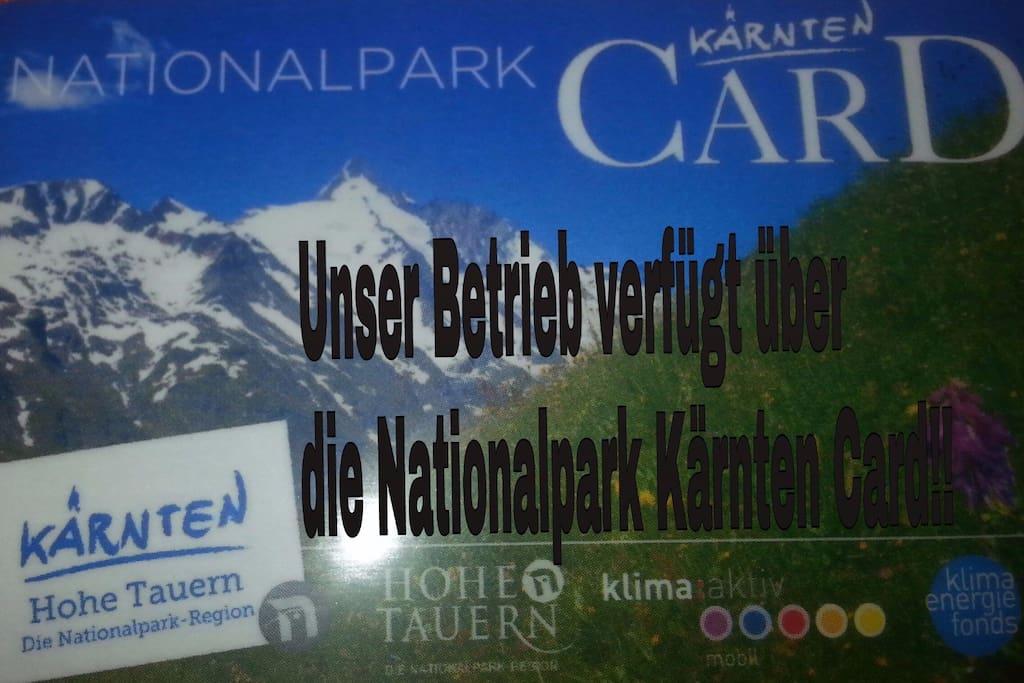 Nationalpark Kärntencard mit dabei!