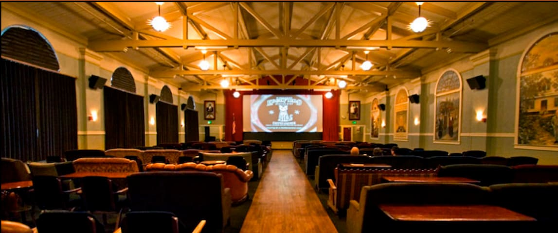 Kennedy School Movie Theater. Enjoy a movie and pizza in the old school gymnasium...just blocks from the tiny house.