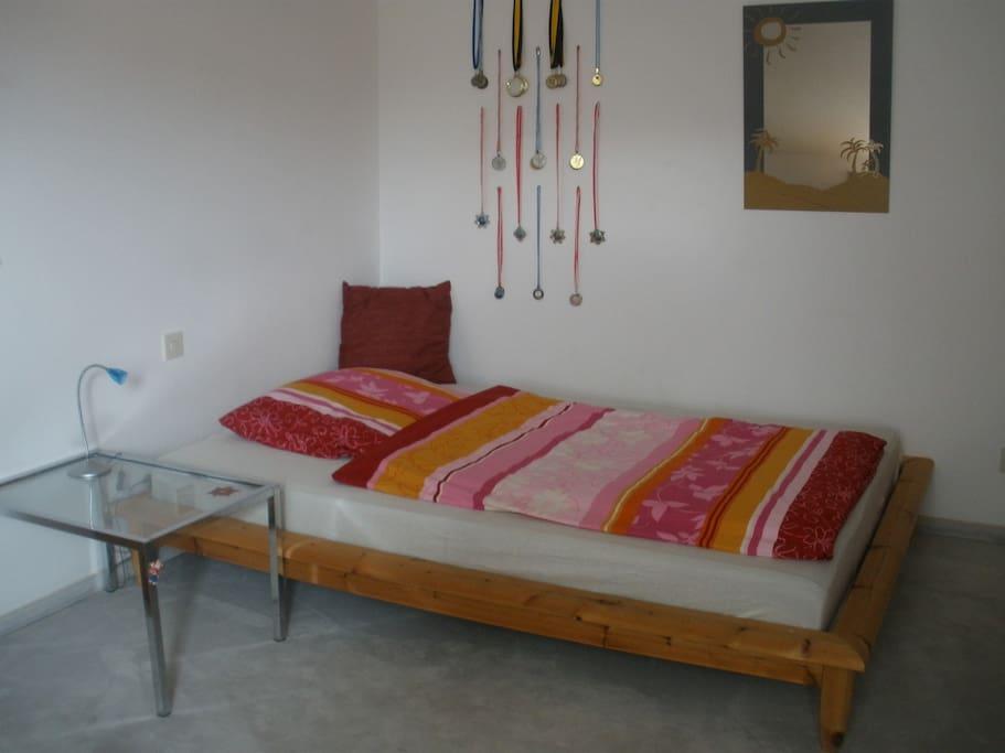 Zimmer 1, mit zusätzlicher Matratze möglich für 3 Gäste