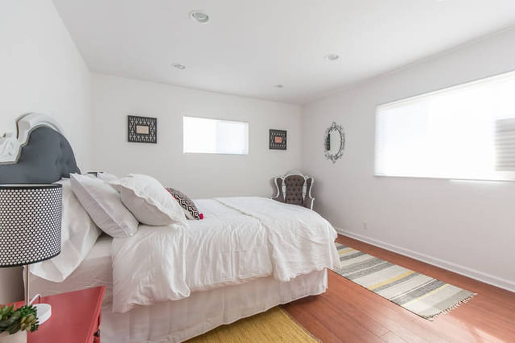 Large bedroom with king size bed.
