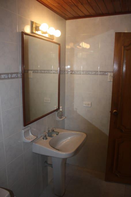 Room #5 - Full, in-suite, bathroom.