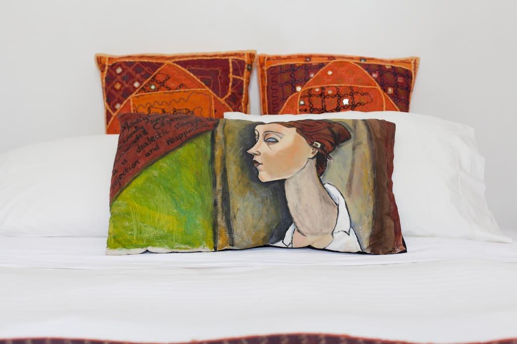 Art on the cushions