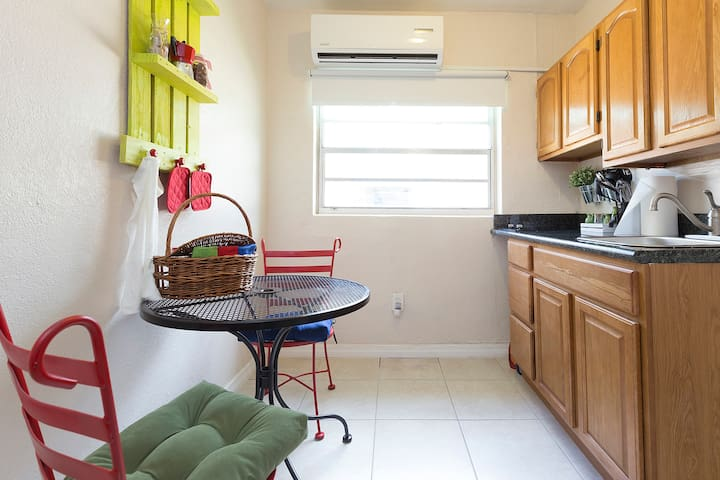In the kitchen you will find coffee and espresso maker as well a microwave, and toaster.
