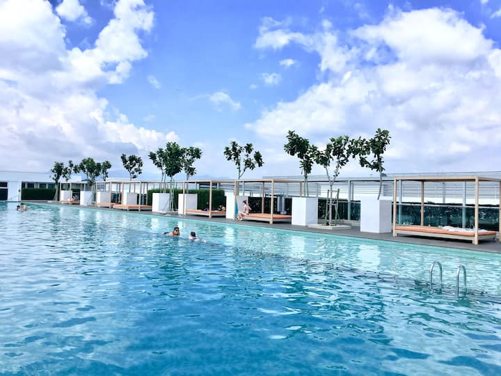 Homesuite【SA04】|☀☀☀ Infinity Pool 2-Bedroom|Avenue
