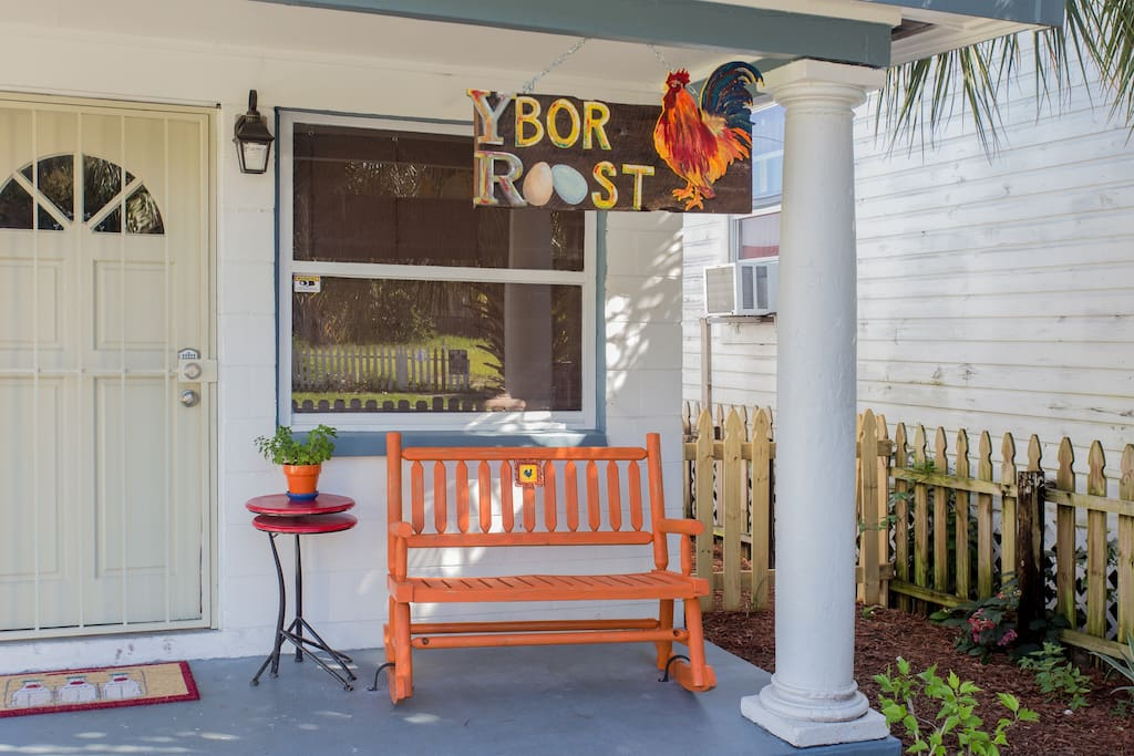 Ybor Roost pays homage to the famous chicken and roosters of Ybor City.