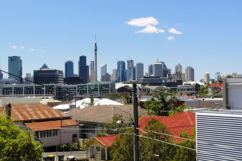Stunning city views from the balcony.