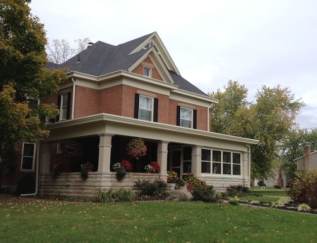 Well maintained historic home, large wrap around porch