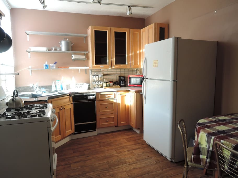 Ample size and well equipped kitchen.