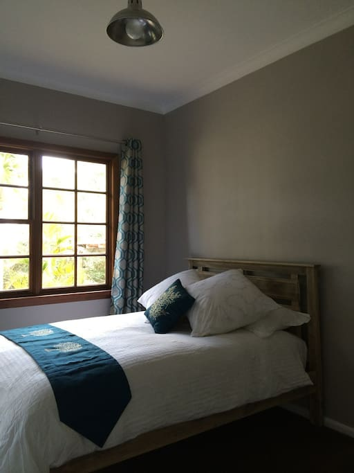 Fresh and bright newly decorated double bedroom