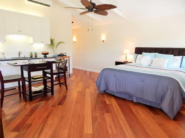 Exotic Cumaru Hardwood Flooring //Ceiling Fan // Air Conditioning