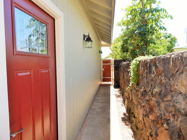 Private Gated Entrance // Sidewalk To Front Door