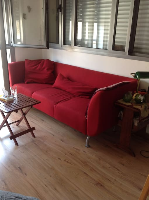 living room, great big sofa