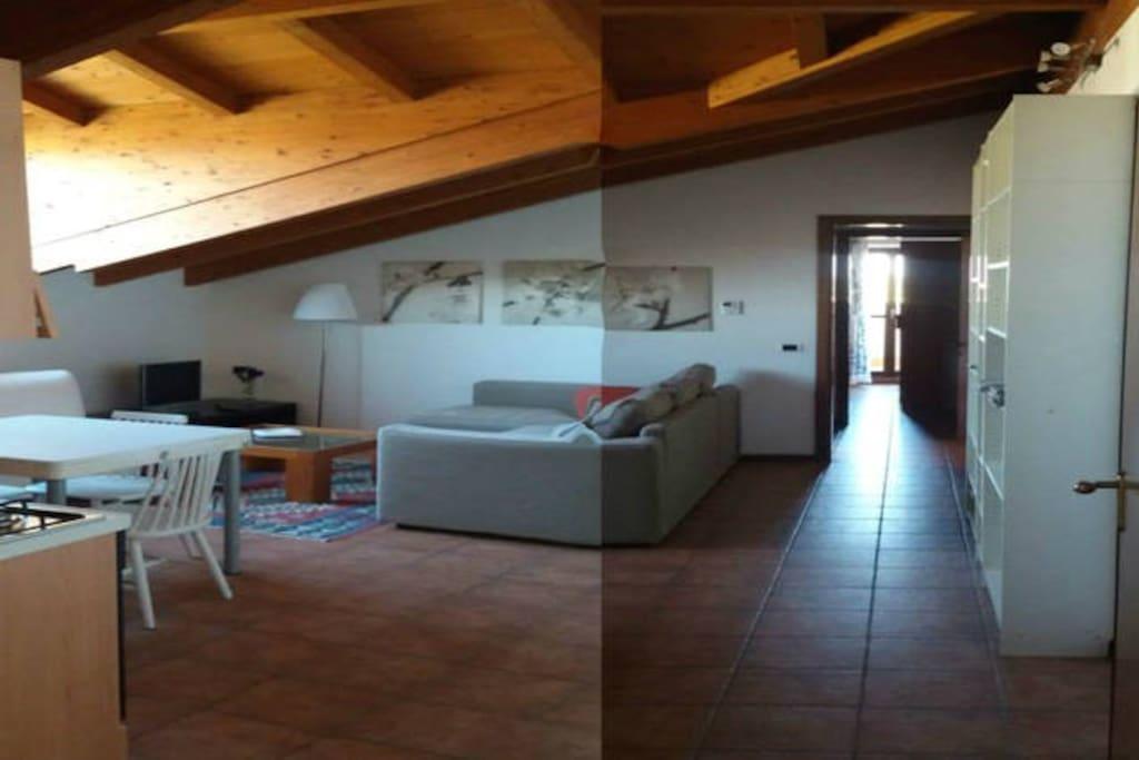 Dv1 hospitable mansard near milan appartementen te huur in caselle lurani lombardijen itali - Badkamer mansard ...