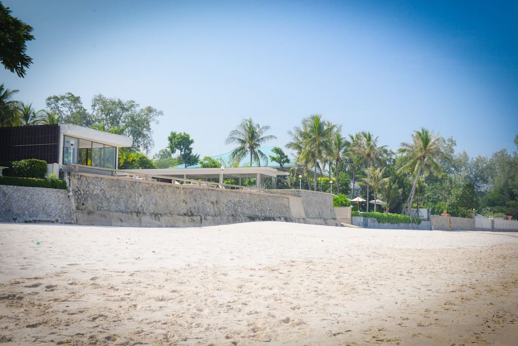 Private and clean white sandy beach right at your door step