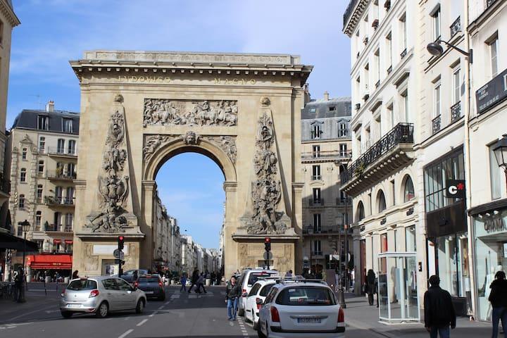 Around the apartment, rue Montorgueil La Porte St Denis