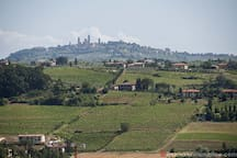 A view of San Gimignano. Just 9 Km distance!
