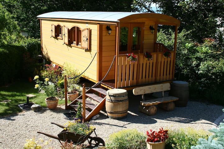 Cosy wooden Gipsy Caravan - Genéve - Nature lodge