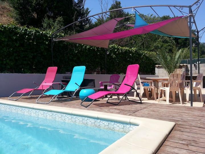 Villa climatisée,piscine,près Canet en Roussillon.