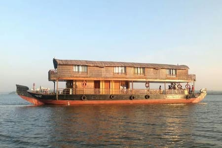 It is the only wooden boat having a party dack facility and room all under one roof Enjoy GOA