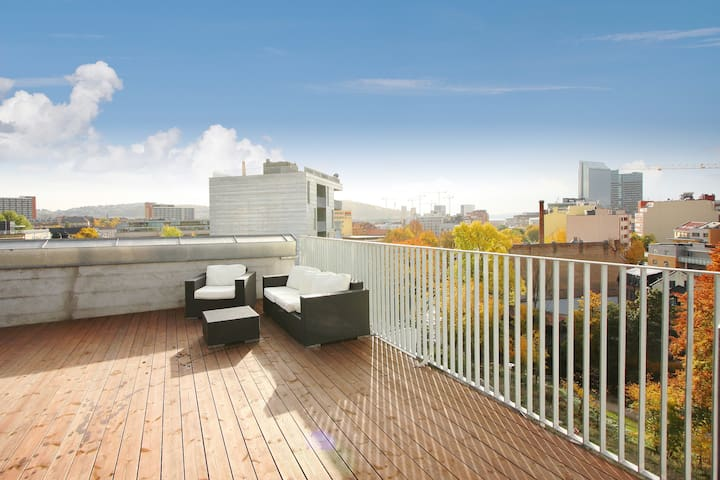 Supercentral with green courtyard - Oslo - Apartment