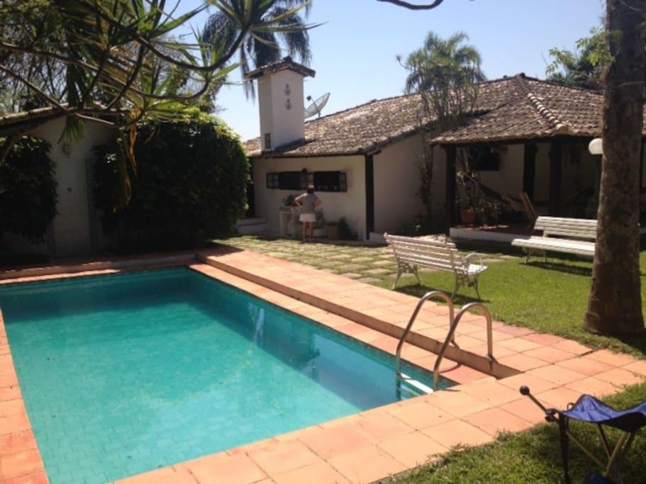 casa + piscina + suite