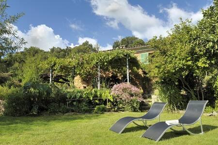 Maison en pierre avec jardin arboré - OCANA - Huis