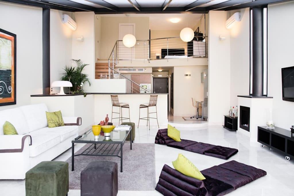 Lujoso loft de dise o con piscina lofts for rent in san - Loft de diseno ...
