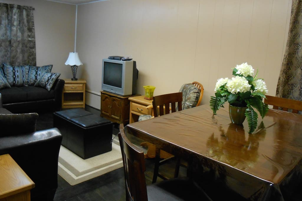 Dining table for  meals. Kitchen is also available for use.