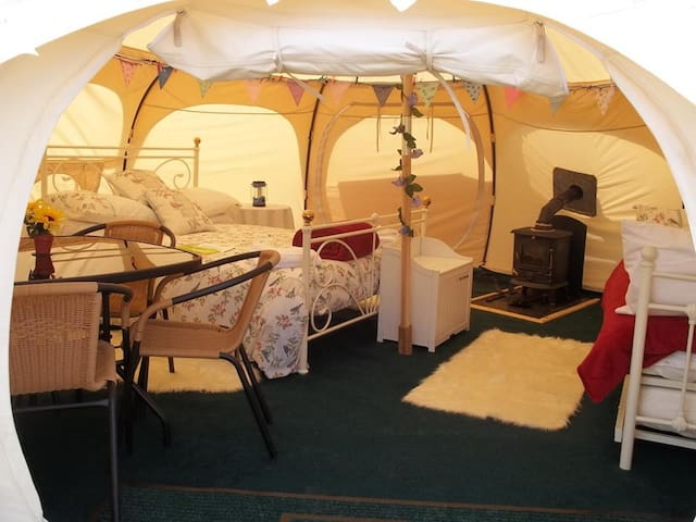 Summer Bell Tent set in a small award winning site - Wadebridge, Cornwall - Tent