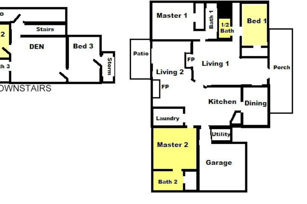 Large Master Bedroom with 2 other available bedrooms