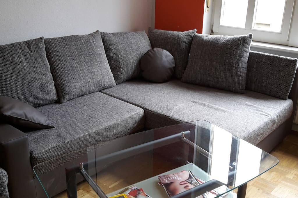 Große bequeme Couch